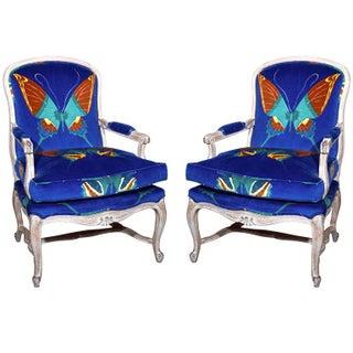 Maison Jansen Louis XV Style Arm Chairs - A Pair