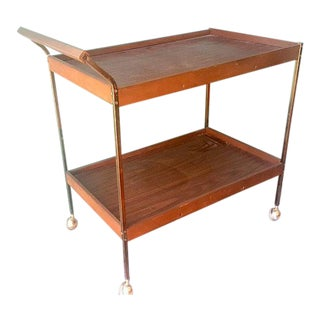 Mid-Century Vintage Bar Serving Cart
