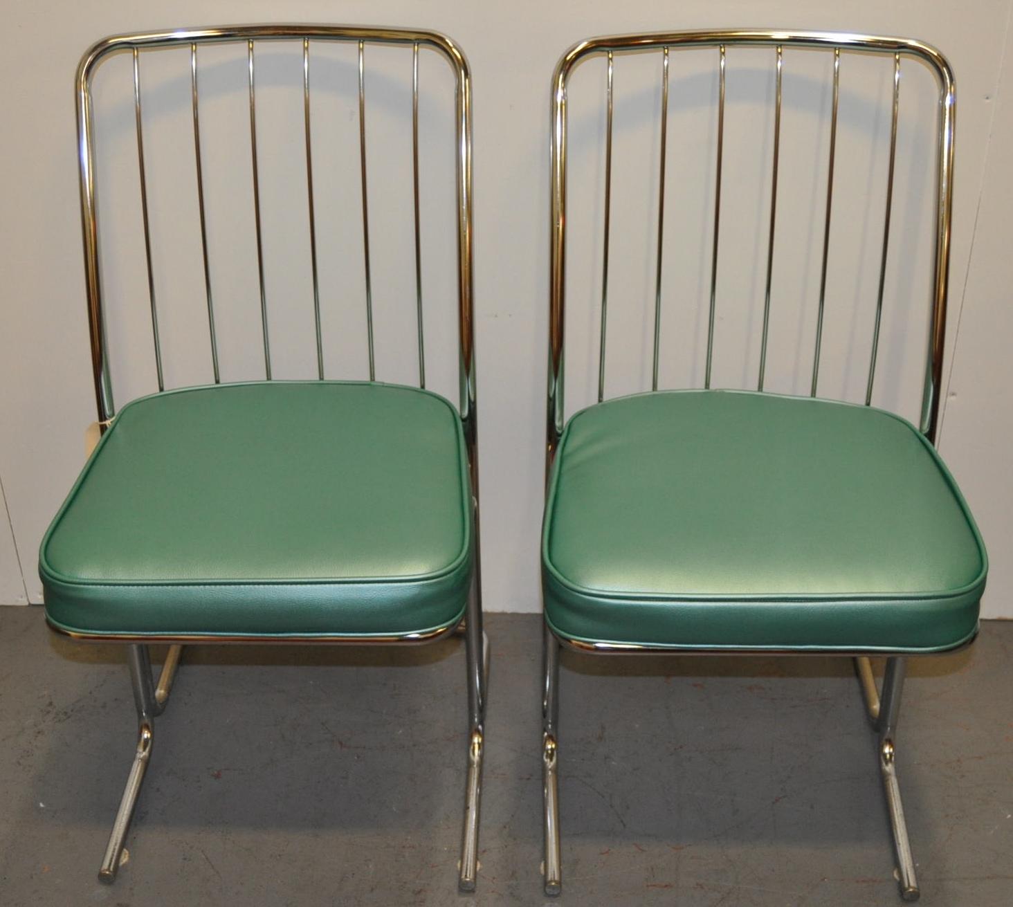 1950s chrome vinyl kitchen chairs set of four chairish