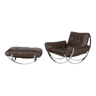 "Leonart Bender Charlton ""Apollo"" Chair and Ottoman"