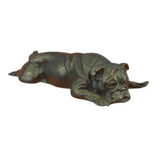 Bulldog Bronze Sculpture