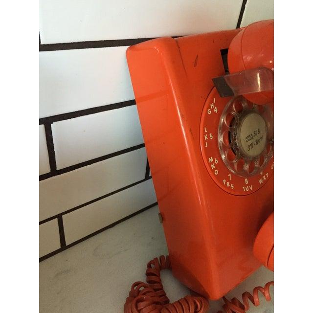 Image of Vintage Orange Wall Phone