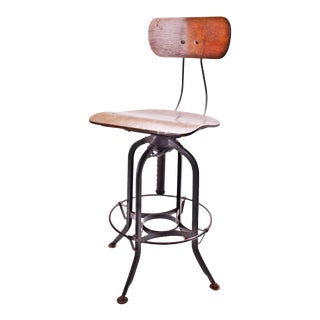 Vintage Industrial Toledo Uhl Drafting Stool