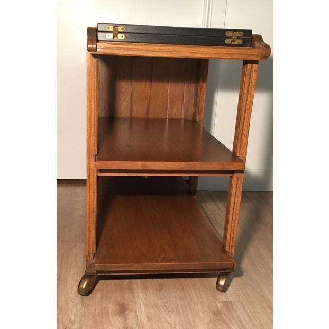 Mid-Century A. Brandt Ranch Oak Serving Cart - Image 7 of 10