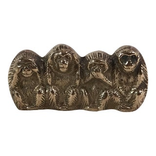 "Vintage Bass Monkeys ""See No Evil ..."" Figurine"