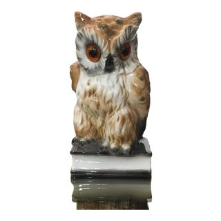 Mid-Century German Owl Desk Lamp, Pen Holder