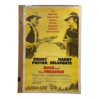 "Columbia Pictures ""Buck and the Preacher"" Vintage Movie Poster"