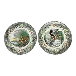 Audubon Transferware Plates - a Pair