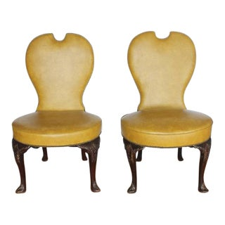 Stylish Pair of Early 20th Century American Library Chairs