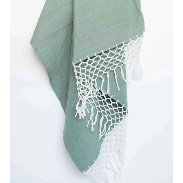 Sage Green Mexican Throw - Image 3 of 5