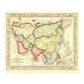 Antique 1860 Map of Asia