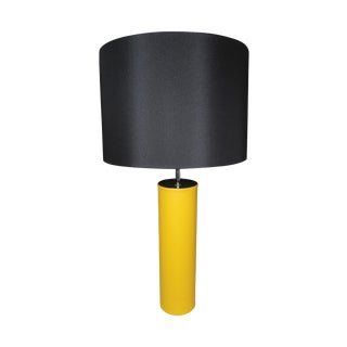 George Kovacs Yellow Leather Cylinder Lamp