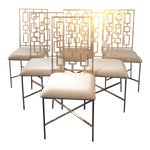 Image of Worlds Away David Gold Iron Chairs - Set of 6