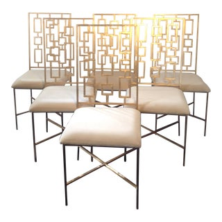 Worlds Away David Gold Iron Chairs - Set of 6