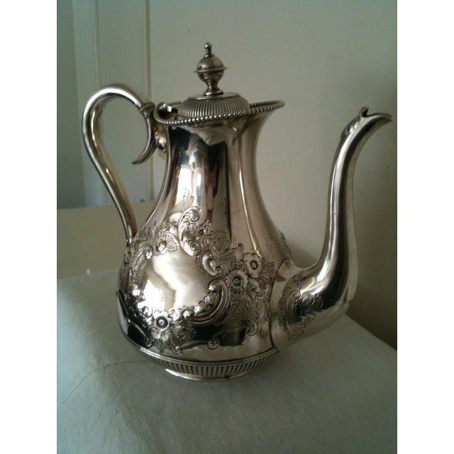 Antique Silver Plate Coffee Server - Image 2 of 7