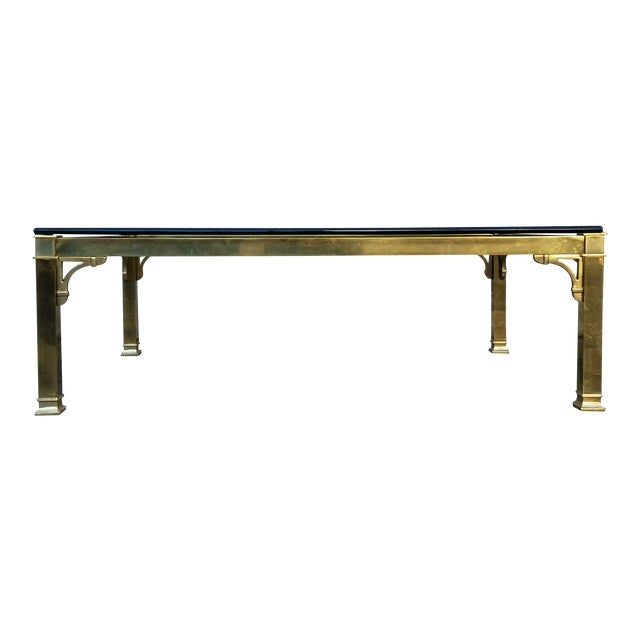 Mastercraft Brass & Glass Vintage Coffee Table - Image 1 of 3