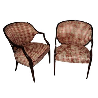 PairMahogany Federal Style Upholstered Armchair