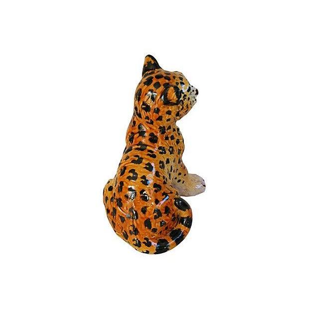 Hand-Painted Italain Terracotta Cheetah - Image 5 of 7