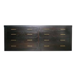 Ebonized Black Wood Dresser