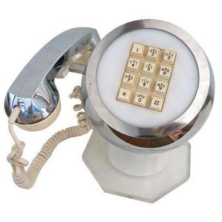 Mid-Century Chrome & Lucite Ball Orb Telephone