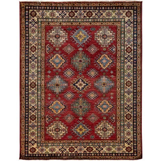 """New Kazak Hand Knotted Area Rug - 4'10"""" x 6'5"""""""