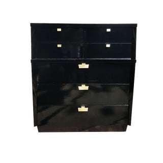 1950's Mid-Century Modern Black Lacquer Dresser
