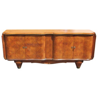 Jules Leleu Style French Art Deco Rosewood Sideboard / Buffet