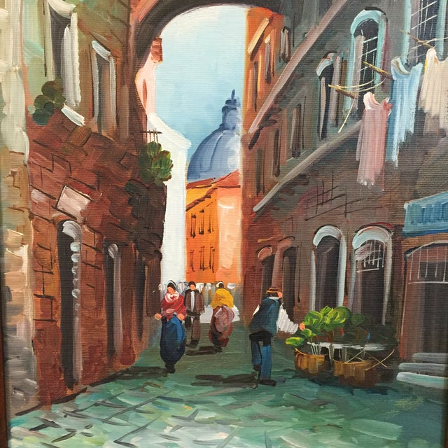 """Roma"" Vintage 1985 Original Oil Painting - Image 4 of 6"