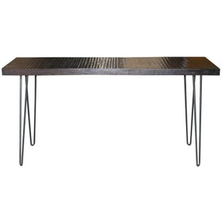 Contemporary Mahogany Pin Leg Console Table