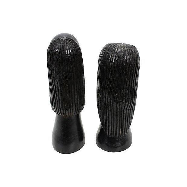 Jamaican Couple Modern Wood Sculptures - Image 4 of 4