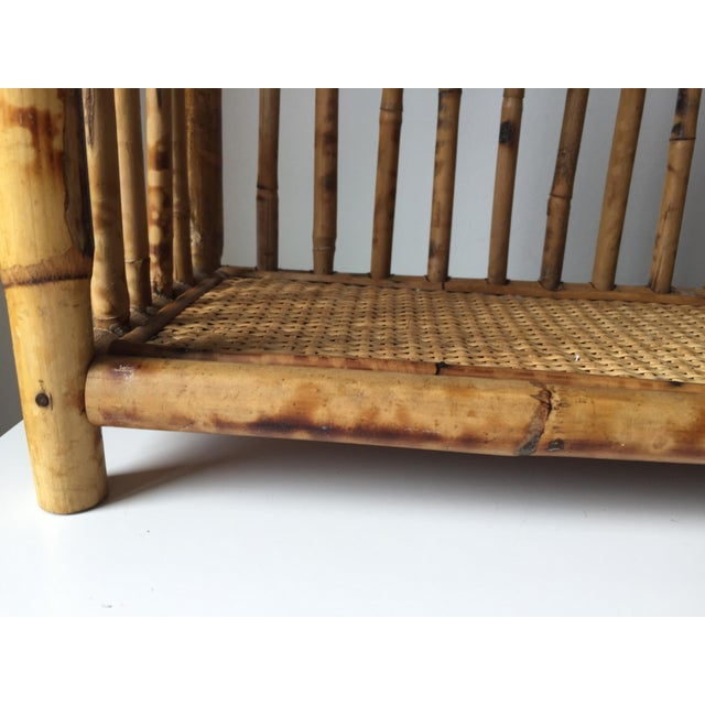 Vintage Scorched Bamboo Rattan Shelf - Image 3 of 6