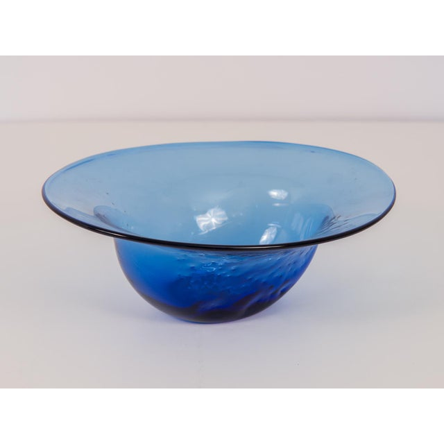 Dimpled Blenko Glass Bowl - Image 4 of 9