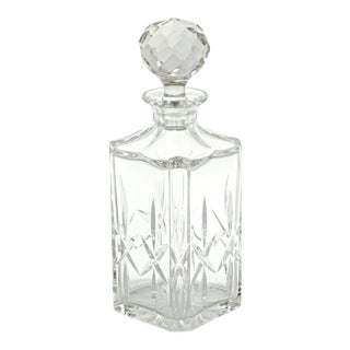 Faceted Ball Top Crystal Decanter