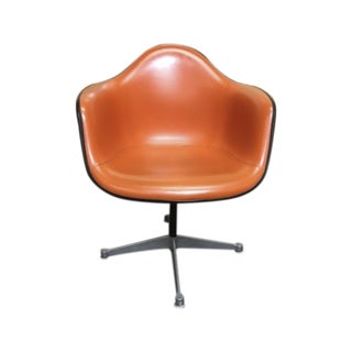 Herman Miller Eames Vintage Orange Swivel Chairs