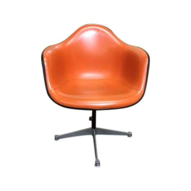 Herman Miller Eames Vintage Orange Swivel Chairs Chairish
