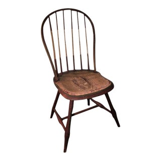 Early 19Thc Original Paint Decorated Windsor Side Chair