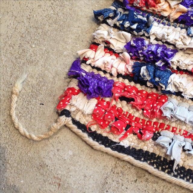 Moroccan Boucherouite Pile Rug - 3′2″ × 4′ - Image 4 of 5