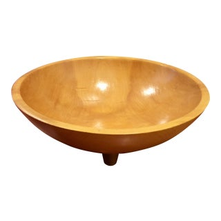 Mid-Century Modern Munising Footed Wood Bowl, 1940s