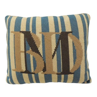 Vintage Monogram Tapestry Pillow