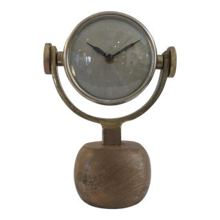 Old World Brass & Wood Clock