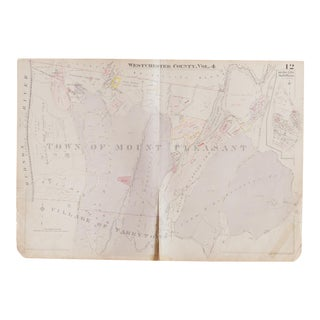 Vintage 1930s Hopkins Map of Mount Pleasant NY