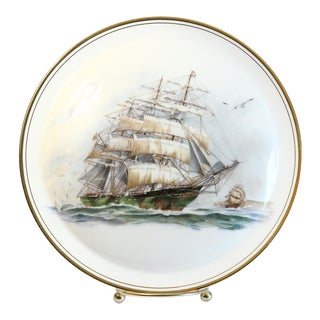 Decorative Ship Plate & Easel