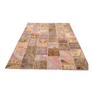 Over-dyed Patchwork Rug - 7′11″ × 10′