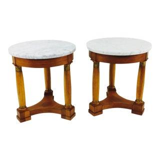 Mid 20Th Century Biedermeier Side Tables - a Pair