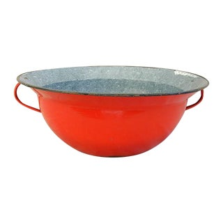 Jumbo Red European Enamelware Harvest Bowl