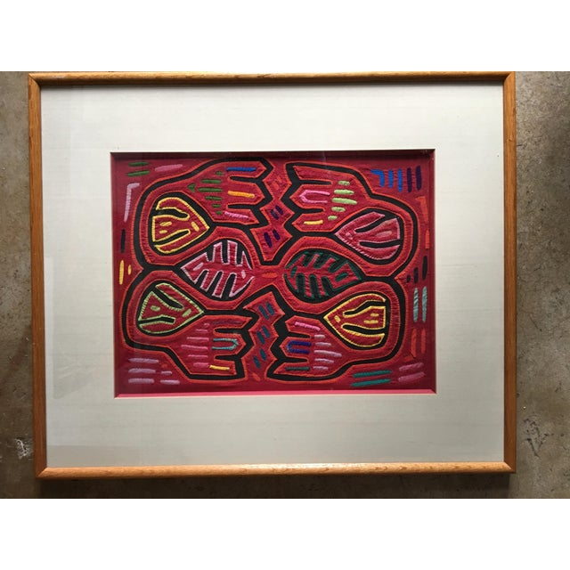 Vintage Indian Mola Framed Textile Art - Image 2 of 9