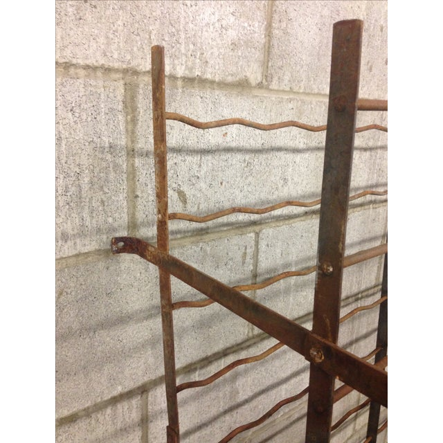 French Industrial Cage-Style Wine Rack - Image 3 of 3