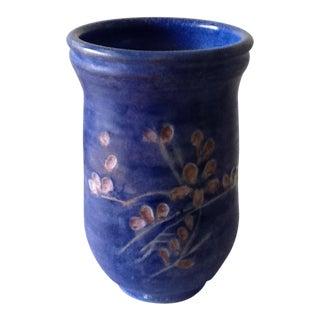 Vintage Cobalt Blue Pottery Vase