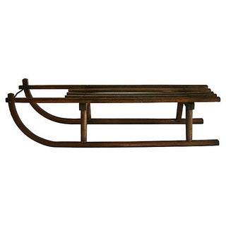 Antique 1900s Davos-Style Sled