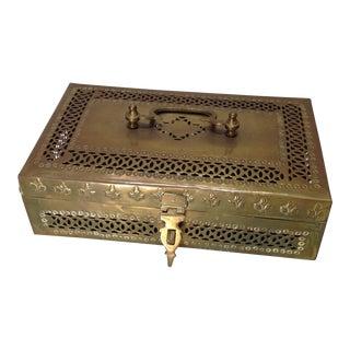 Ornate Vintage Hinged Brass Box